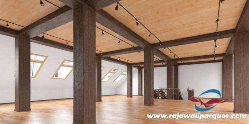 inspirasi desain gedung serbaguna - dengan plafon kayu