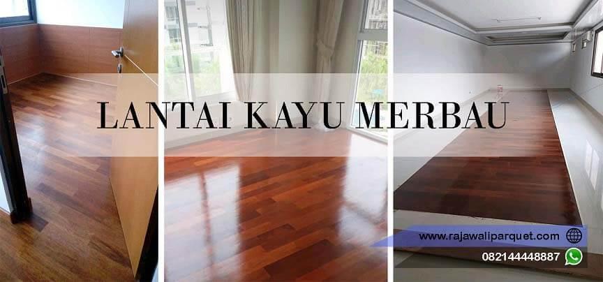 harga Flooring kayu Merbau Rajawali parquet