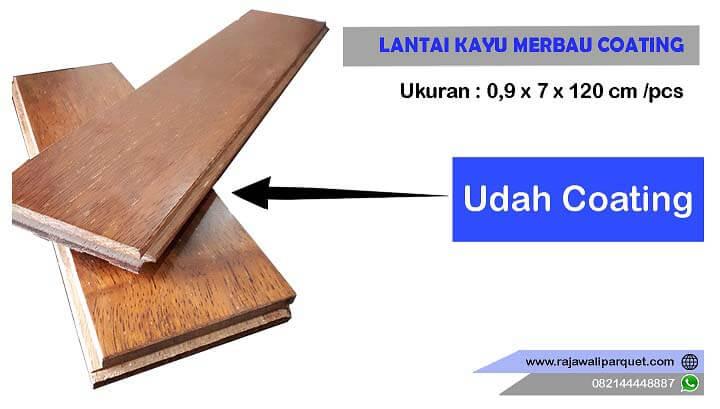 lantai kayu merbau cOATING