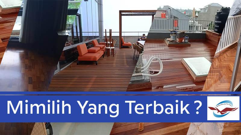 Sesuaikan lantai kayu Jakarta