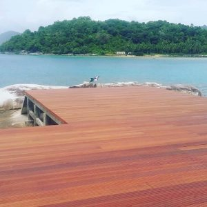 pemasangan decking kayu Bengkirai jumbo 2