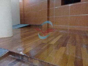 pemasangan lantai kayu Merbau IPB Bogor