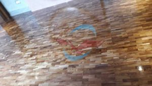 Lantai kayu jati Restoran Naga Denpasar bali