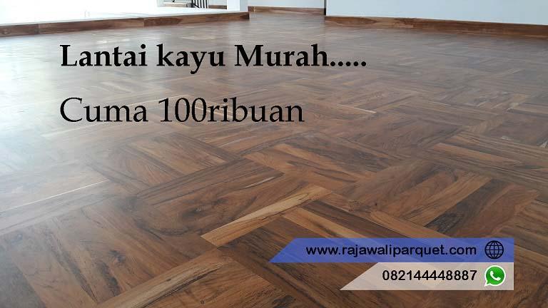 jual lantai kayu Jati murah model Mozaik