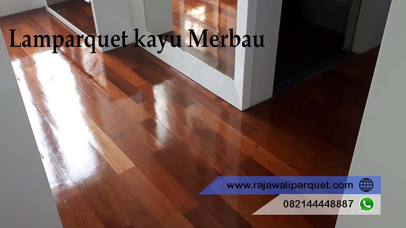 jual lantai kayu murah lamparquet Merbau terpasang