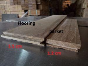 ukuran parket kayu solid