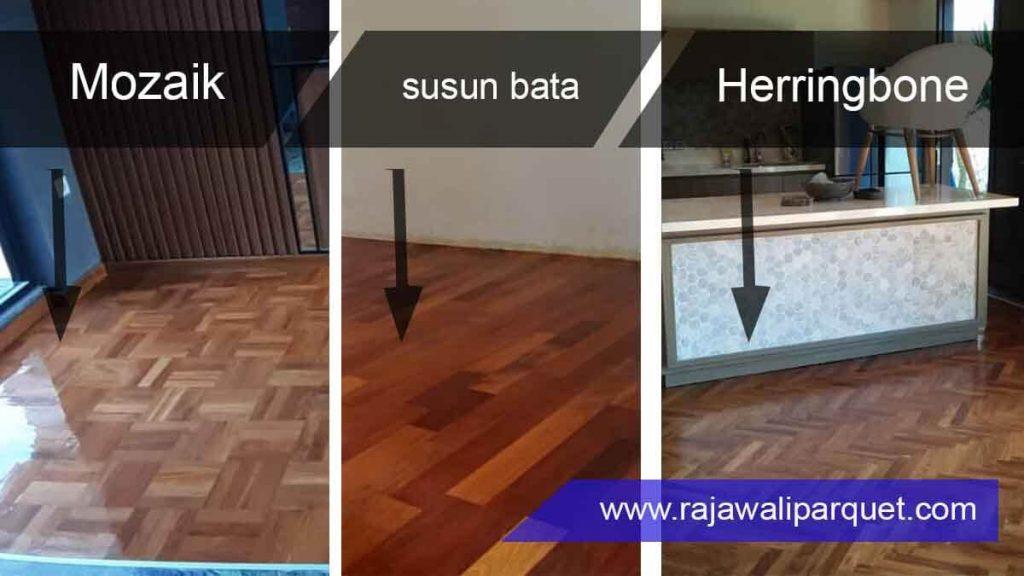 cara pasang lantai kayu 3 memilih tipe pemasangan