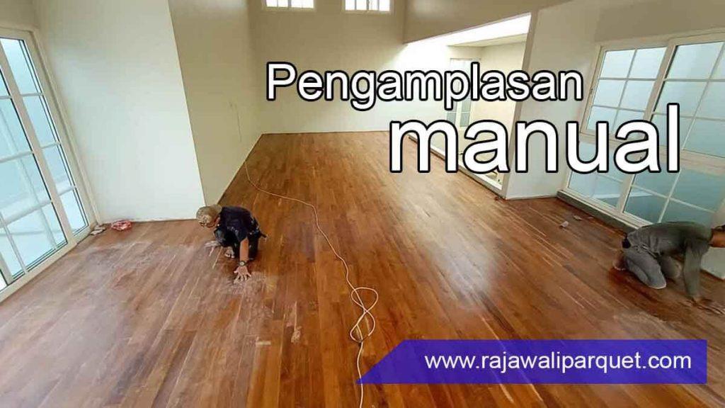 cara pasang lantai kayu 7 sanding sealer