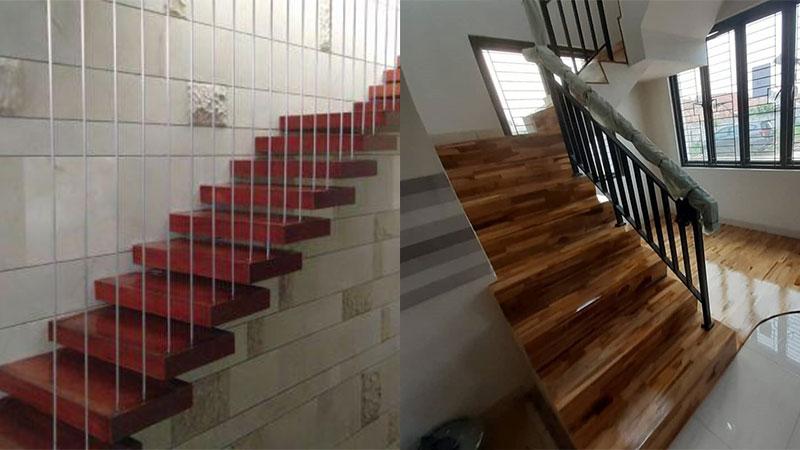 papan tangga merbau dan jati