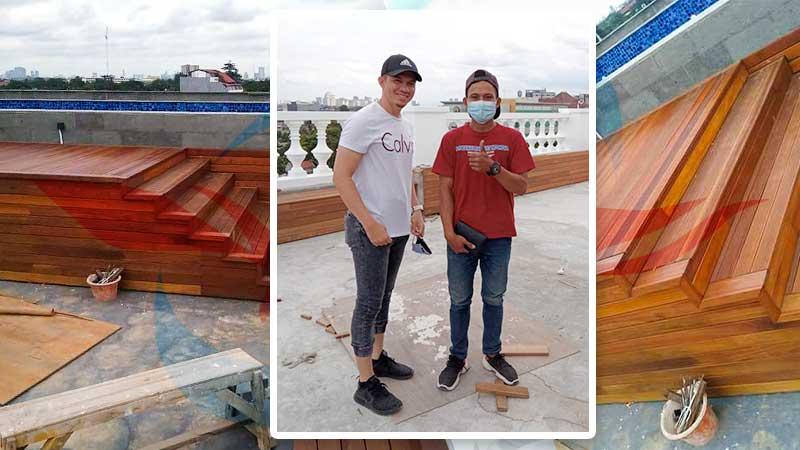 lantai kayu rooftop
