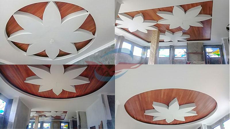 plafon kayu kombinasi
