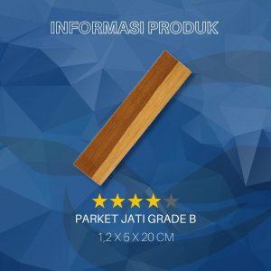 lantai kayu parket grade B